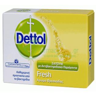 DETTOL - Fresh Μπάρα Σαπουνιού Αναζωογόνησης με Αντιβακτηριδιακό Παράγοντα 100gr